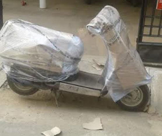 Packers and Movers Hydrabaad scooter packaging